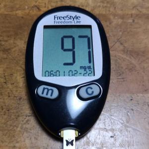 2月22日(月)今朝の血糖値と昨日の夕食