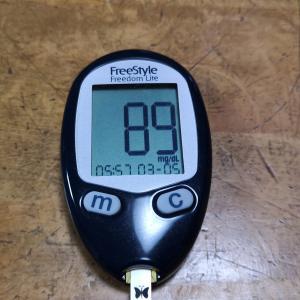 3月5日(金)久々に今朝の血糖値