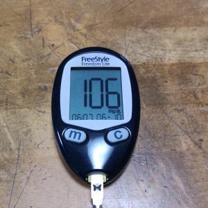 6月10日(木)今朝の血糖値と昨日の夕食