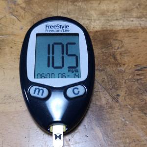 6月14日(月)今朝の血糖値と昨日の夕食