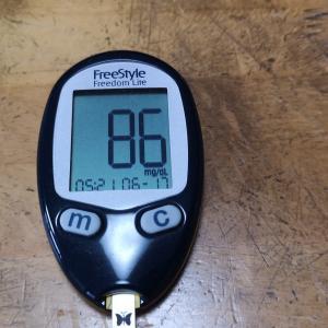 6月17日(木)今朝の血糖値