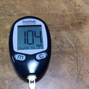 6月21日(月)今朝の血糖値と昨日の夕食