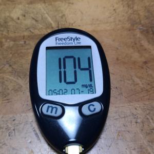 7月19日(月)今朝の血糖値と昨日の夕食