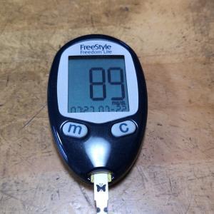 7月22日(木)今朝の血糖値と昨日の夕食