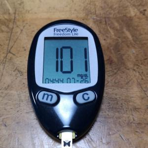 7月26日(月)今朝の血糖値と昨日の夕食