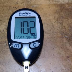9月16日(木)の血糖値と最近の血糖値
