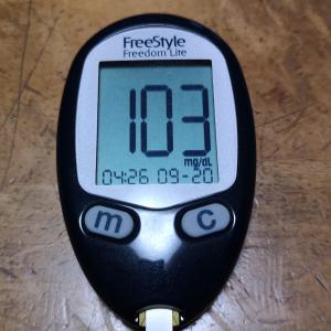 9月20日(月)今朝の血糖値と昨日の夕食