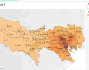 番外編:データで見る、都内の感染率(5/19時点)
