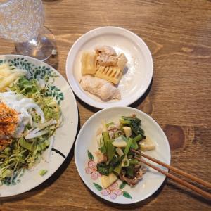 ヨーグルト+玉ねぎスライス+塩コショウ