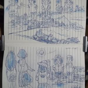 2020.5.25 今夜も(^^)カキ書き ノート画