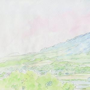 スケッチブックから「6月・蝦夷富士:羊蹄山」by 旅びっとん
