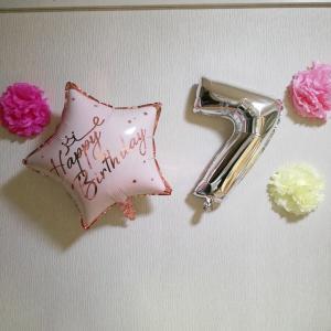 予算オーバー(´・ω・)長女7歳の誕生日。