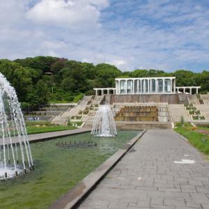 須磨離宮公園@噴水広場と秋バラ