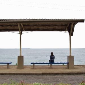海に一番近い駅@予讃線下灘駅にて
