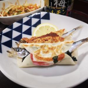 無印良品【ねり梅】を使用したレシピ ししゃもの餃子の皮巻き