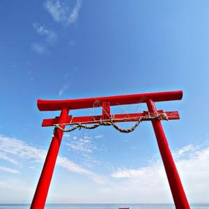 SNS映え狙いの方へ佐賀県太良町にある大魚神社の海中鳥居をすすめる話~満潮時は鳥居が沈んでる~