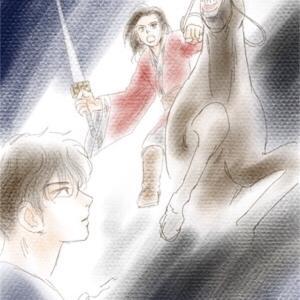 キングダム二次創作 信と政の友情 Artemis様から挿絵いただきました