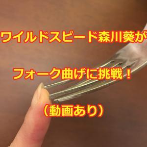 ワイルドスピード森川葵がフォーク曲げに挑戦!(動画あり)