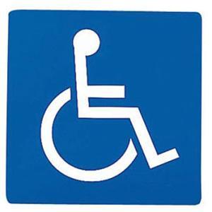 車椅子マークの駐車場に健常者の車
