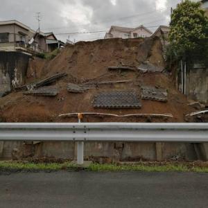 櫻園本店近所で土砂崩れ((((;゚Д゚))))