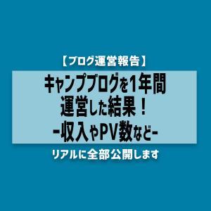 【報告】キャンプブログを1年運営した結果〜収入やPV数など〜