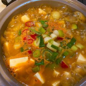 チョングッチャンチゲ(納豆チゲ)レシピ