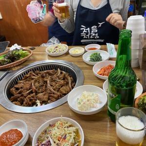 韓国で1年越しの初めての会食