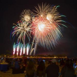 7月 4日の花火はハワイでまばらになります