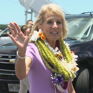 ファーストレディのジル・バイデン氏がハワイに到着