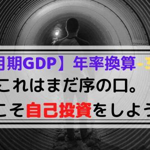 【1-3月期GDP】今こそアフターコロナを見据えた『自己啓発』がオススメです。【-3.4%】
