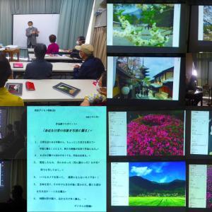西京デジカメ4月例会、大西先生迎え作品講評会