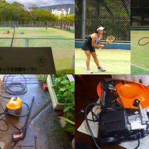 ヨネックス京都テニス、高圧洗浄機DIY修理中