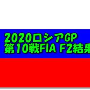 2020FIA F2第10戦ロシアGPフリー・予選・決勝結果
