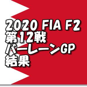 2020FIA F2第12戦バーレーンGP予選・決勝結果