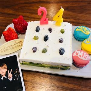 【誕生日】紫耀くん24歳HPB〜🎉予約9ヶ月待ちの京都一乗寺「絹ごし緑茶てぃらみす」お取り寄せケーキでお祝い✨