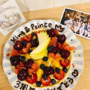 【㊗️】キンプリ3周年おめでとう🎉特製フルーツタルトを作って初冠番組を観ながらお祝い