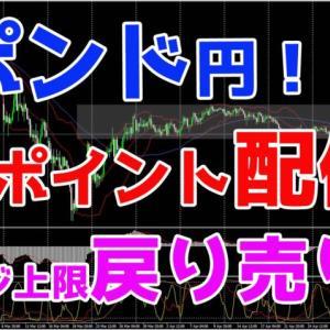 ポンド円!ポイント配信♪レンジ上限戻り売り!