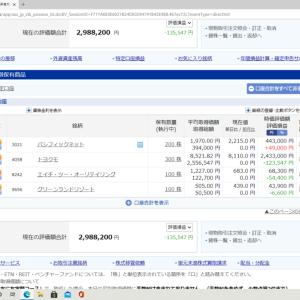 本日株取引停止。