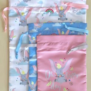 しまむらで購入したダンボの「巾着3点セット」ダンボはやっぱり空が似合う♪ You can fly!!