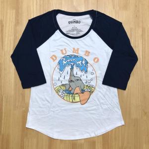 海外限定【日本未発売】☆ダンボの「ラグランスリーブ七分袖Tシャツ」水遊びシーンはなかなか商品化されないので嬉しい♪