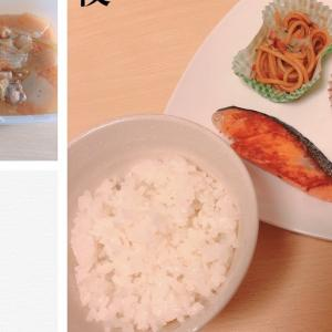8/25 鮭の塩焼きとお弁当用だった冷凍食品