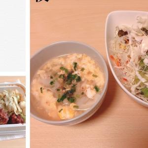 9/1 鶏回鍋肉弁当と餃子スープ