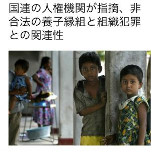 国連の人権機関が指摘、非合法の養子縁組と組織犯罪との関連性