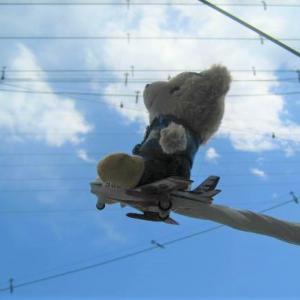 ブルーインパルスのブルーくん 感謝の飛行