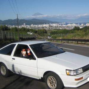 AE86レビンで  お出かけ 日本平 三保