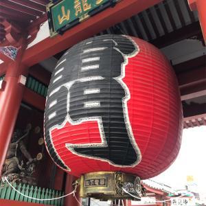 浅草寺に行った( ¨̮ )