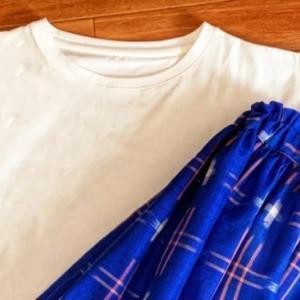 着物リメイクのスカートとガウチョ