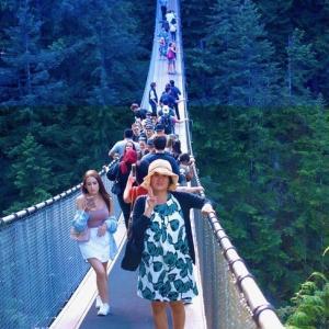 カナダの旅 バンクーバー キャピラノ吊り橋