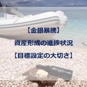 【金銀暴騰】資産形成の進捗状況【目標設定の大切さ】