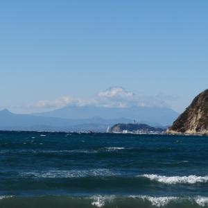 【旅行記】青春18きっぷで行く東北旅2020→2021 6日目(1)―逗子海岸で見た富士山